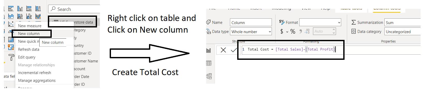Calculated Column—DAX in Power BI