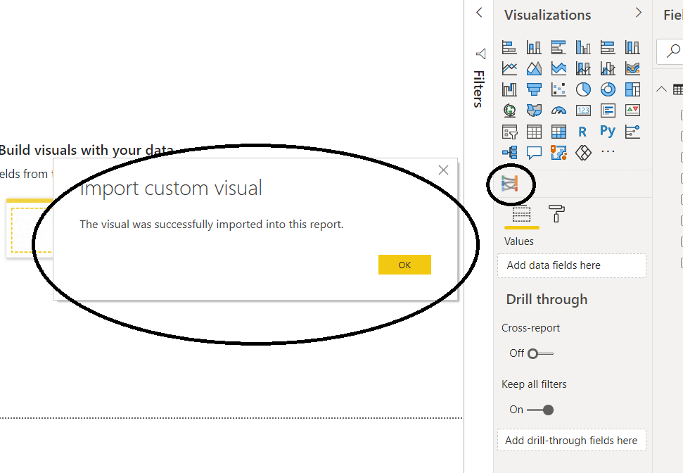 Import Visuals—Sankey Chart