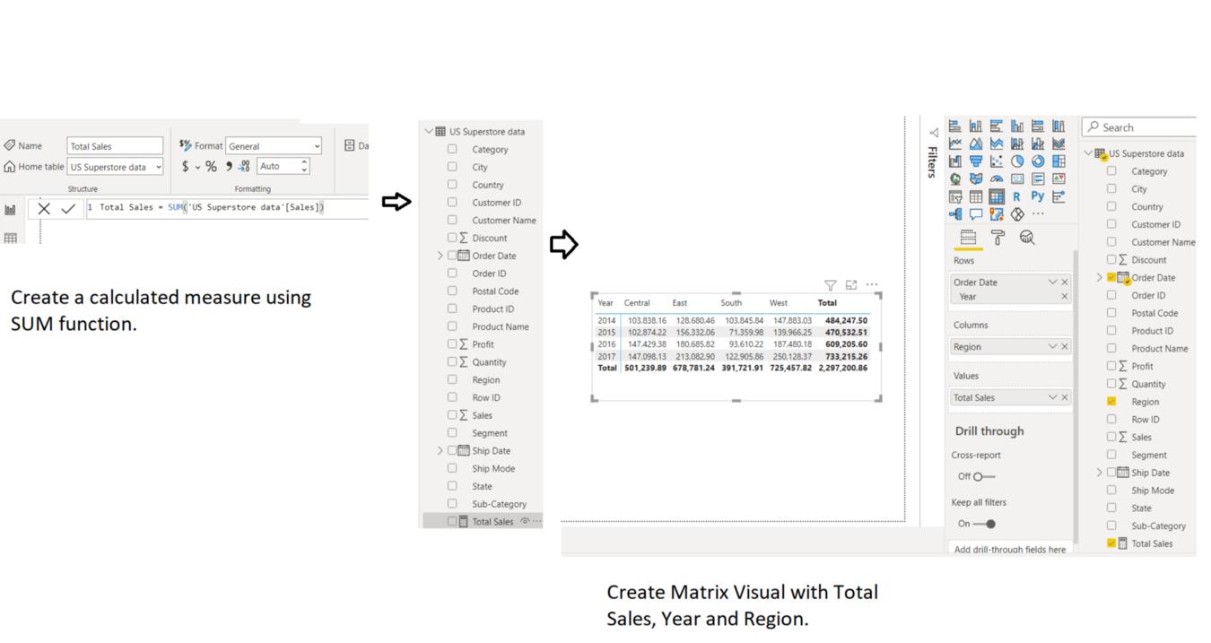 Calculated Measure Implicit Filter Context Power BI