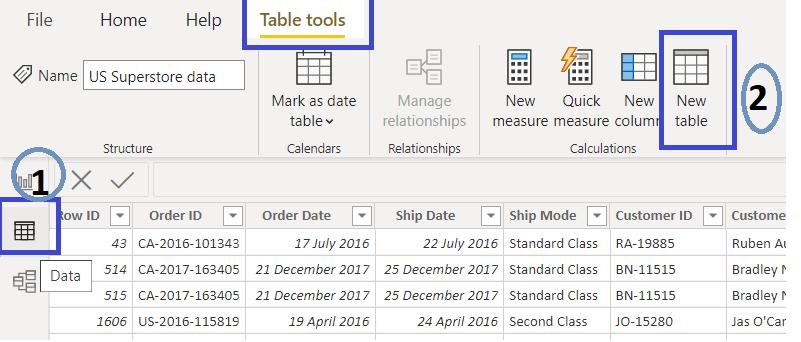 Date Table DAX Power BI