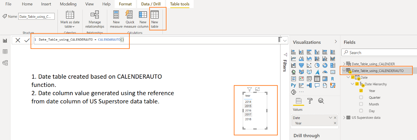 Date and Time functions of DAX in Power BI