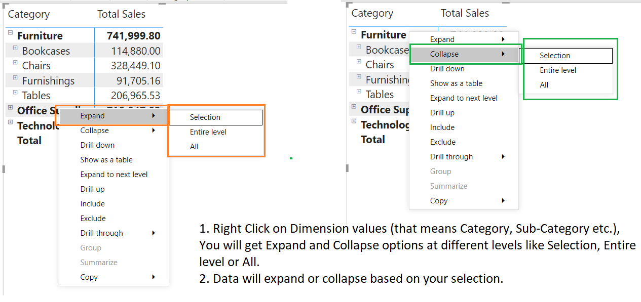 Expand and Collapse in a Power BI Visual